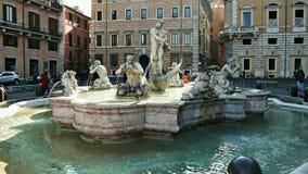 Fontana-del Moro-Rom stockfotos