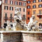 Fontana del Moro in Rom Stock Photo