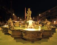 Fontana del Moro, Rome stock afbeelding