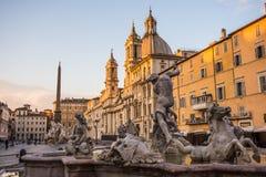 Fontana del Nettuno, πλατεία Navona, Ρώμη, Ιταλία Στοκ φωτογραφία με δικαίωμα ελεύθερης χρήσης