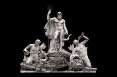 Fontana del Nettuno. By Giovanni Ceccarini in Piazza del Popolo, Rome Italy stock photo