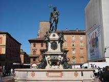 Fontana del Nettuno (Neptune Fountain) in Bologna. BOLOGNA, ITALY - CIRCA SEPTEMBER 2018: Fontana del Nettuno (meaning Neptun Fountain royalty free stock photo