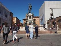 Fontana del Nettuno (Neptune Fountain) in Bologna. BOLOGNA, ITALY - CIRCA SEPTEMBER 2018: Fontana del Nettuno (meaning Neptun Fountain royalty free stock image