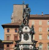 Fontana del Nettuno (Neptune Fountain) in Bologna. Fontana del Nettuno (meaning Neptun Fountain) in Bologna, Italy stock image