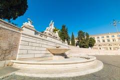 Fontana del Nettuno in Piazza del Popolo. In Rome, Italy stock photo