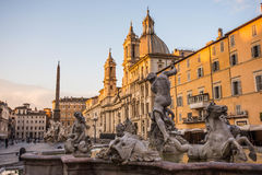 Fontana del Nettuno, Piazza Navona, Rome, Italy. Fontana del Nettuno in Piazza Navona, Rome, Italy royalty free stock photography
