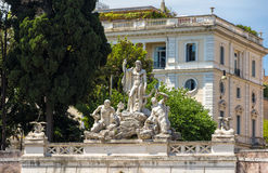 Fontana del Nettuno in Rome, Italy Stock Images