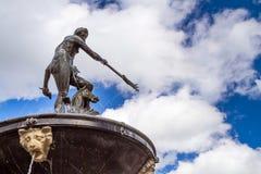 Fontana del Nettuno in vecchia città di Danzica Immagini Stock Libere da Diritti
