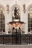 Fontana del Nettuno in vecchia città di Danzica Fotografia Stock