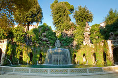 Fontana del Ovato front view in villa D-este at Tivoli Royalty Free Stock Photography