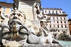 Fontana del Panteão em Roma, Itália Foto de Stock