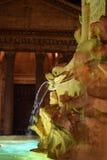 Fontana Del Panteon, fontanna przy nocą, Rzym obraz royalty free