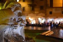 Fontana del Panteon Panteon springbrunn, Italien, Rome Royaltyfria Foton