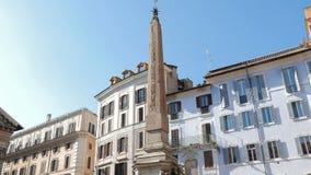 Fontana del Pantheon的方尖碑 意大利罗马 股票视频