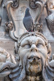 Fontana del Pantheon,意大利细节  图库摄影