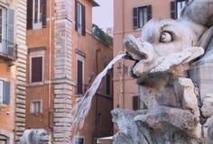 Fontana del Pantheon,意大利细节  库存图片