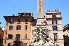 Fontana del Pantheon Fotografia Stock Libera da Diritti