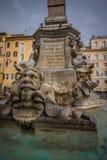 Fontana del Pantheon History City Rome Empire stock images