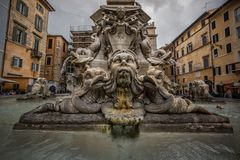 Fontana del Pantheon History City Rome Empire royalty free stock images