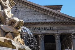 Fontana del Pantheon in Rome Royalty Free Stock Photography