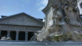 Fontana del Pantheon Rome Italy stock footage
