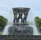 Fontana del parco di Frogner, Oslo, Norvegia Fotografia Stock