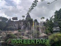 Fontana del parco di verde di Eco Fotografia Stock