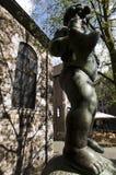 Fontana del ragazzo del pesce Aquisgrana/Germania fotografia stock