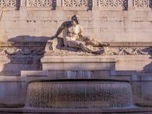 Fontana del Tirreno, Roma Immagini Stock Libere da Diritti