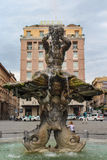 Fontana del Tritone meaning Triton Fountain in Rome Stock Images