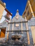 Fontana del villaggio di Jerica Castellon in Alto Palancia della Spagna Immagine Stock