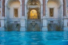Fontana dell «Acqua Paola na Janiculum wzgórzu w Rzym, zdjęcia stock