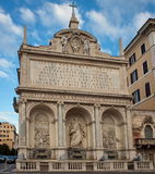 The Fontana dell'Acqua Felice (the Fountain of Moses) - landmark attraction in Rome, Italy. The Fontana dell'Acqua Felice or the Fountain of Royalty Free Stock Photography