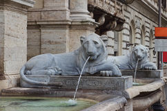 The Fontana dell'Acqua Felice in Rome Royalty Free Stock Photography