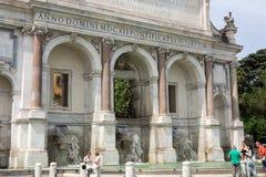 Fontana dell'Acqua Paola 库存图片