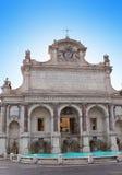 Fontana dell' Acqua Paola- Acqua Paola Fountain, Gianicolo, Rome, Italy. Close up in a sunny day Stock Images