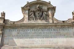 The Fontana dell`Acqua Paola also Royalty Free Stock Photo