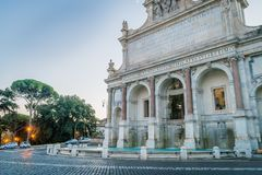 Fontana dell Acqua Paola. Also called Il Fonne or The big fountain in Rome Royalty Free Stock Images