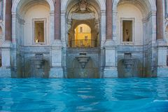 Fontana dell`Acqua Paola, on the Janiculum hill in Rome stock photos