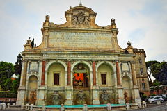 Fontana dell`Acqua Paola Rome Italy. The Fontana dell`Acqua Paola also known as Il Fontanone `The big fountain` is a monumental fountain located on the Janiculum Royalty Free Stock Photo