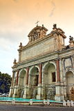 Fontana dell`Acqua Paola Rome Italy. The Fontana dell`Acqua Paola  is a monumental fountain located on the Janiculum Hill, near the church of San Pietro in Stock Photos