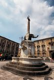 Fontana dell'Elefante in Catania Royalty Free Stock Image