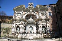 Fontana dell'Organo, Villa d`Este fountain and garden in Tivoli Stock Photos