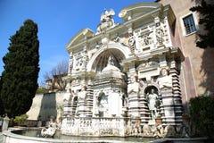 Fontana dell'Organo, Villa d`Este fountain and garden in Tivoli Royalty Free Stock Photo