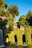 Fontana dell'ovato przy willą D'este w Roma Obrazy Royalty Free