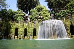 Fontana dell'Ovato, Villa d`Este fountain and garden in Tivoli n Stock Image