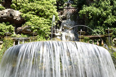 Fontana dell'Ovato, Villa d`Este fountain and garden in Tivoli n Stock Images