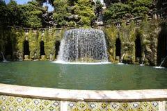 Fontana dell'Ovato, Villa d`Este fountain and garden in Tivoli n Royalty Free Stock Photos