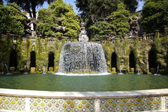 Fontana dell'Ovato, Villa d`Este fountain and garden in Tivoli n Royalty Free Stock Photography