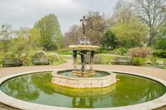 Fontana della cacciatrice in Hyde Park fotografia stock libera da diritti